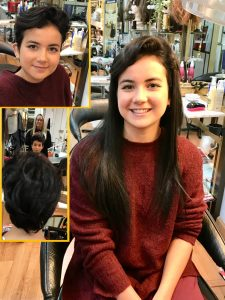 Clienta joven despues de nuestros servicios de colocacion de extensiones de cabello naturales