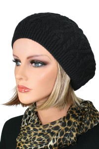 Cable Knit Beret