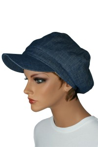 Denim Newsboy Hat