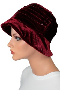 Velvet Button Hat